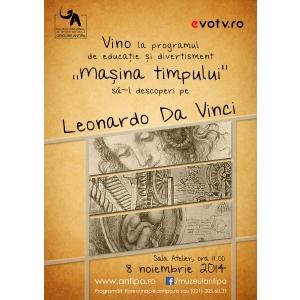 """Codul lui Da Vinci. Vino la Muzeul """"Antipa"""" să-l descoperi pe Da Vinci"""