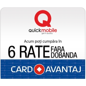 card. Quickmobile.ro implementeaza plata prin Card Avantaj