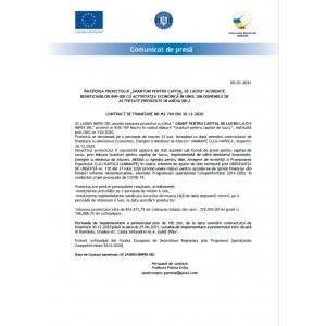 Contract de finanțare NR M2-769 DIN 30.12.2020