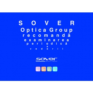 corectia vederii. Stegulet promotional Sover Optica Group