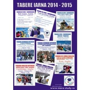 tabere. Tabere de iarna, schi/snowboard 2014 - 2015 MARA STUDY TURISM