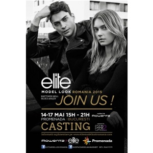 CASTING ELITE MODEL LOOK ROMANIA 2015 sustinut de ROWENTA 14-17 mai, la PROMENADA MALL, BUCURESTI
