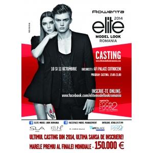 Ultimul casting Rowenta Elite Model Look Romania 2014, 10-11 octombrie, AFI PALACE COTROCENI, Bucuresti