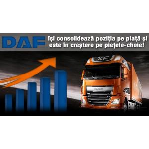 Creștere de vânzări a camioanelor grele DAF, susținută de Stoneridge