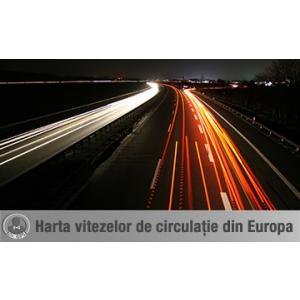 Harta vitezelor din Europa obținută prin monitorizare prin GPS