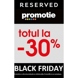 Black Friday la Reserved