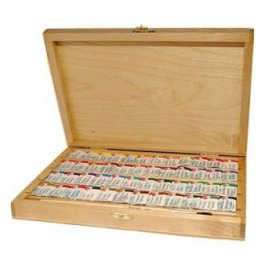 acuarele. Set 48 acuarele rusesti White Nights in cutie din lemn