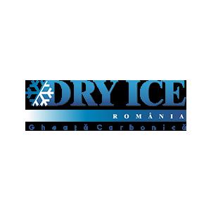 gheata cubica. Logo Dry-Ice