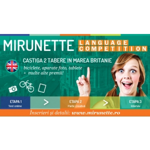 mirunette inter. Tabara Anglia Mirunette Language Competition