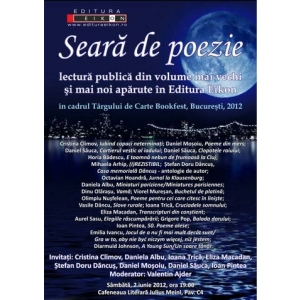 Seara de poezie , surprize si titluri noi la Editura Eikon , Bookfest 30 mai - 3 iunie
