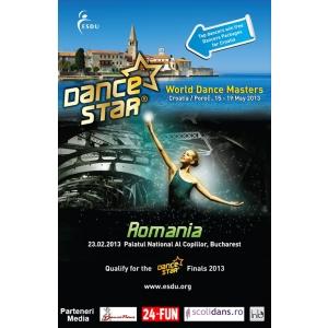 competitie de dans 2013. Competitia de dans ESDU DanceStar Romania 2013 va avea loc in februarie, la Palatul Copiilor