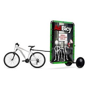 adbicy. AdBicy, remorca publicitara de bicicleta produsa in Romania, expusa la targurile internationale Viscom Milano si Viscom Frankfurt
