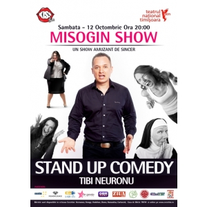 "tibi neuronu. S-au vandut aproape jumatate din biletele spectacolului ""Misogin Show by Tibi Neuronu"" in mai putin de doua ore!"