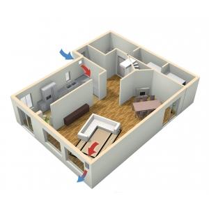 ventilatie cu recuperare caldura. sistem de ventilatie