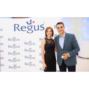 lansare regus green gate. Cristian Brancu si Ramona Iacob, Country Manager Romania