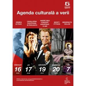 festivaluri. Operele Război şi Pace, Cavalleria Rusticana şi Pagliacci transmise în direct la Grand Cinema & More de la cele mai faimoase festivaluri din lume