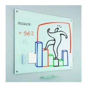 whiteboard. Tabla magnetica din sticla, 100x150 cm, SMIT