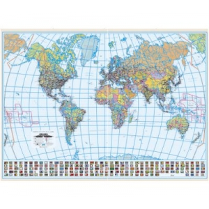 harti de perete. Harta Lumii Plastifiata