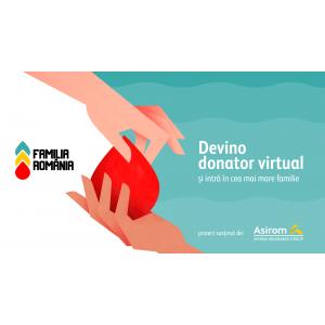 Asirom susține prima platformă de donatori de sânge virtuali