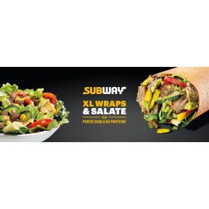 Subway lansează produse în varianta XL cu porție dublă de proteine