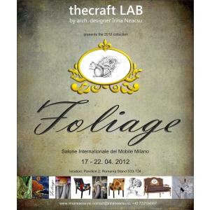 Foliage. thecraft LAB prezinta colectia de mobilier de design Foliage - Milano 2012