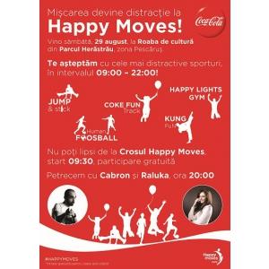Coca-Cola Happy Moves vine la Roaba de cultură, sâmbătă, 29 august, 2015