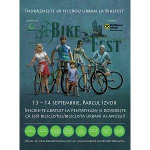pentahlon. Indrazneste sa fii erou urban la BikeFest 2014,  13 – 14 septembrie, Parcul Izvor