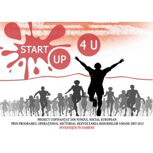 POSDRU finantare. 50 de afaceri vor primi finantare in valoare maxima de 25.000 de euro fiecare in cadrul proiectului START UP 4 U, ID:POSDRU/176/3.1/S/149612