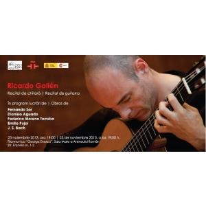 Pernod Ricard. Recital de chitara Ricardo Gallén la Ateneul Român