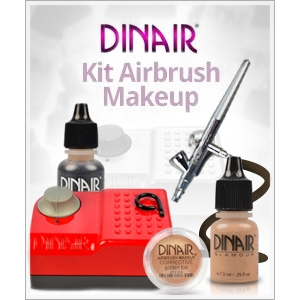 machiaj cu aerograf. Kit de airbrush makeup