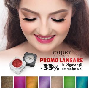 make-up. Ultimele zile de promoții la noii pigmenti pentru make-up Cupio
