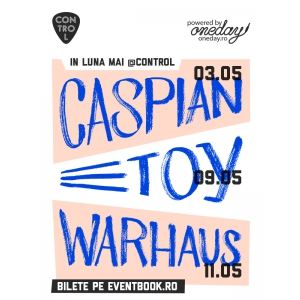 Caspian, TOY si Warhaus – live la Bucuresti, in mai!