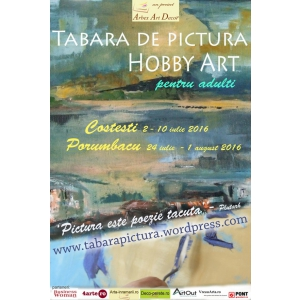 set pictura. Tabara de pictura Hobby Art editia de vara 2016