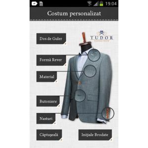 Tudor  Personal Tailor. TUDOR PERSONAL TAILOR, PRIMA APLICATIE ROMANEASCA DE MODA MASCULINA PENTRU  SMARTPHONE