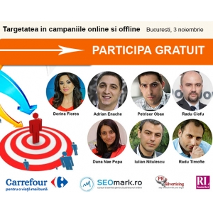 targetare eficienta. Speakeri conferinta Targetarea in campaniile online si offline - PR2Advertising.ro