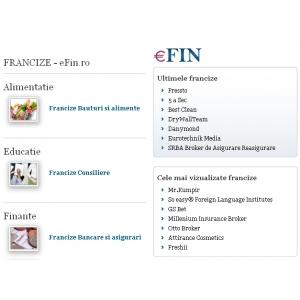 francize. eFin.ro: cea mai sigura sursa de informatii despre francize