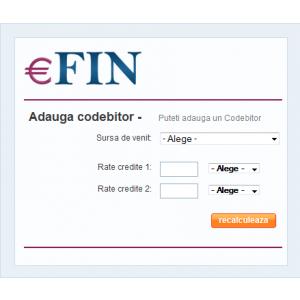 codebitor. Optiunea Codebitor, o noua facilitate pentru utilizatorii  Credit Scoringului eFin.ro