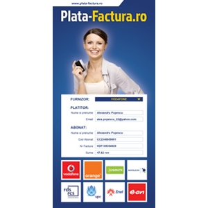 factura. Plateste-ti facturile intr-un minut prin www.plata-factura.ro