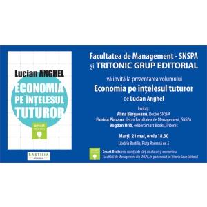 tritonic. invitație Lucian Anghel - Economia pe înțelesul tuturor