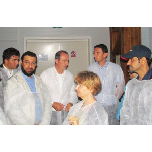 kuweit. VIZITĂ DE RANG ÎNALT LA FERMA DE STURIONI HEDONIA