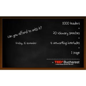 Ultimele zile de înregistrare pentru TEDxBucharest 2012
