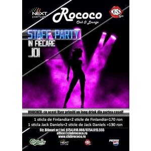 Club Rococo. Double Weekend la Club Rococo!