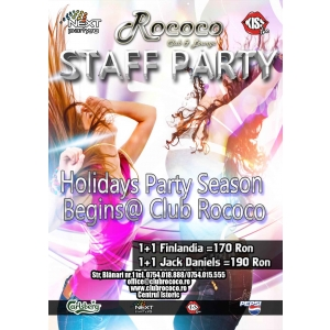 Staff Party. Holiday Party Season @Club Rococo