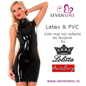 Doua noi marci de lenjerie din latex in oferta SevenSins.ro