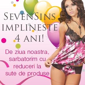 sevensins. SevenSins.ro implineste 4 ani si sarbatoreste cu sute de promotii!