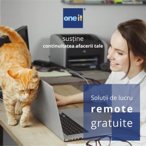One-IT oferă gratuit companiilor soluții pentru munca de acasă