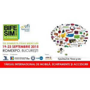 lemn și mobilă. Pe 19 septembrie începe cel mai mare eveniment de mobilă din România – Târgul internațional de mobilă, echipamente și accesorii BIFE-SIM