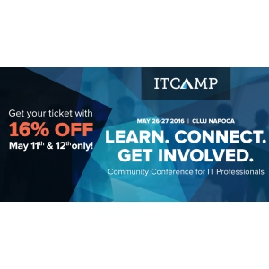48 ore cu 16% reducere la ITCamp 2016, conferința de comunitate pentru profesioniștii IT