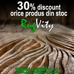 70% reducere la covoarele RugVity
