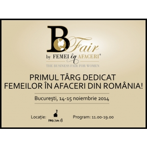 expozanti. B-Fair by Femei in Afaceri, primul targ dedicat femeilor in afaceri din Romania